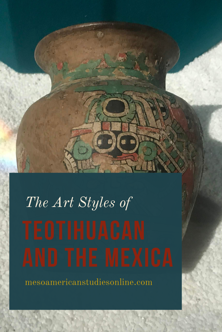 Art Style Aztec Mexica Teotihuacan Tlaloc Vase Storm God