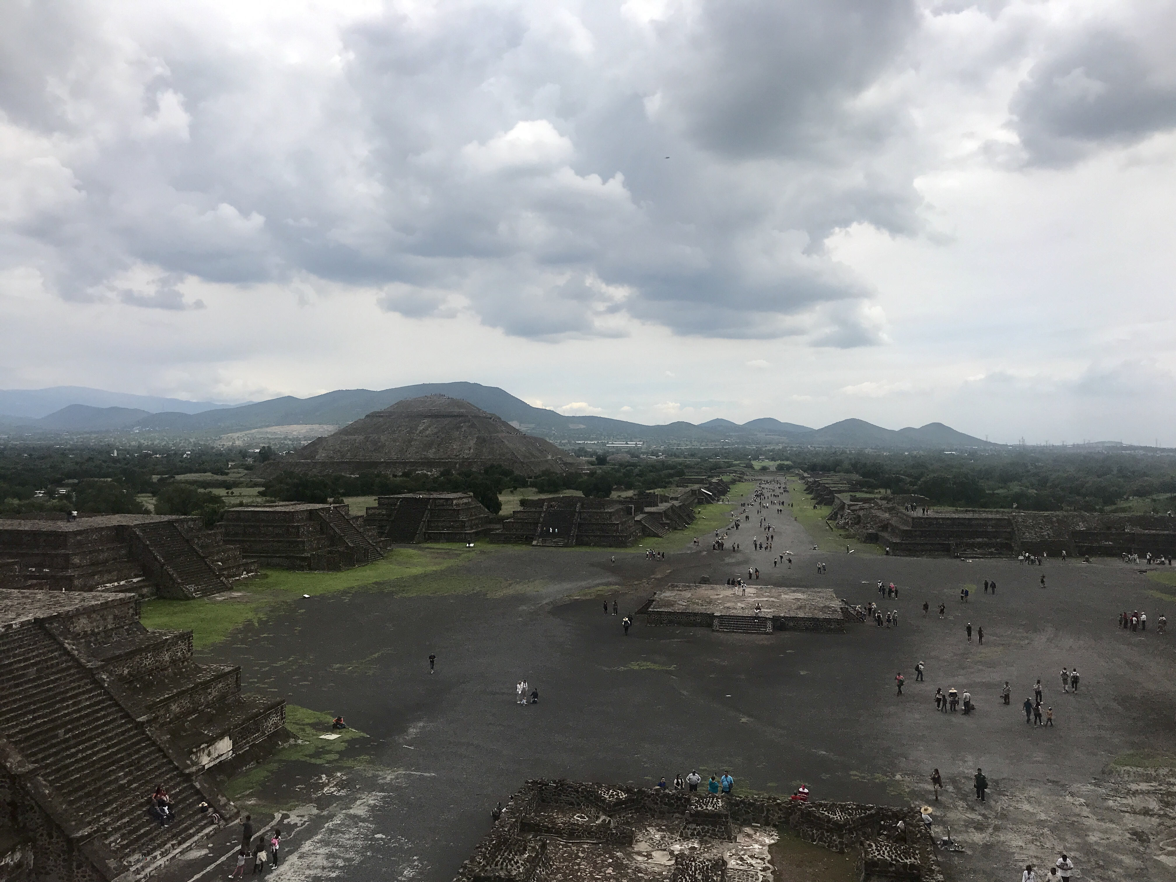 Pyramid of the Sun, Teotihuacan, from Pyramid of the Moon