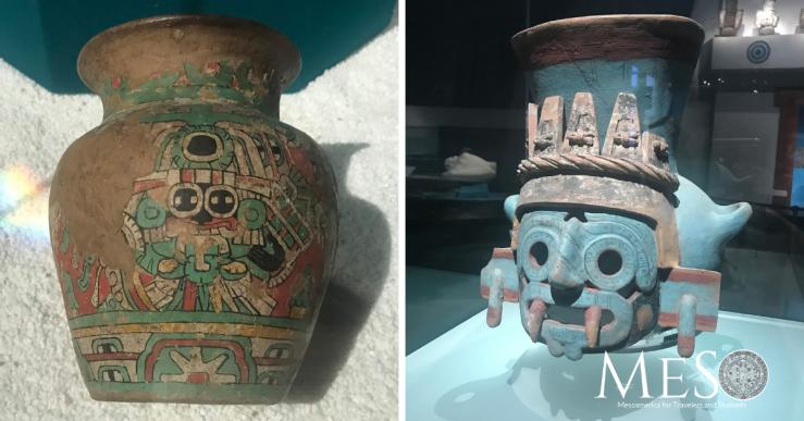 Tlaloc vase Aztec Mexica Teotihuacan